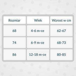 tabela rozmiarów body z nadrukiem
