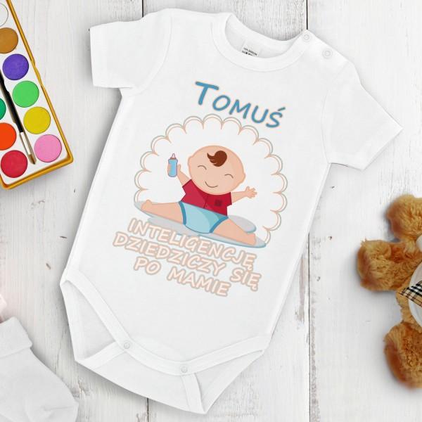 body niemowlęce z napisami na prezent na dzień mamy