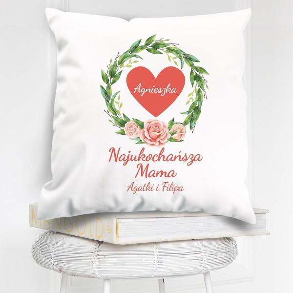 poduszka z napisem na prezent na dzień mamy