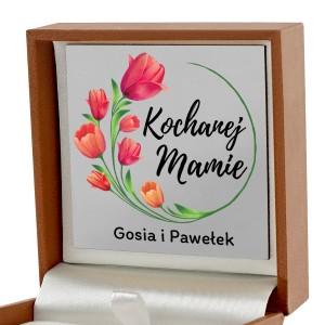 pudełko biżuteryjne z dedykacją dla mamy