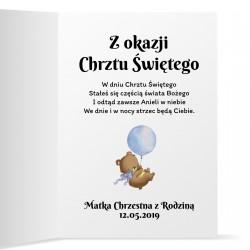 pamiątka chrztu świętego kartka z życzeniami