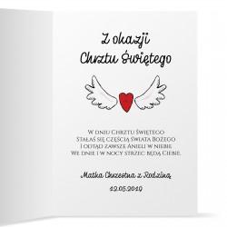 kartka na chrzest dla dziewczynki z życzeniami