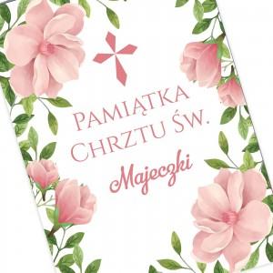 kartka z personalizacją na prezent na chrzciny dla dziewczynki