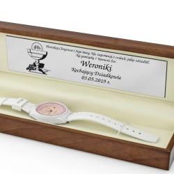 pamiątka na komunię zegarek w pudełku z grawerem casio