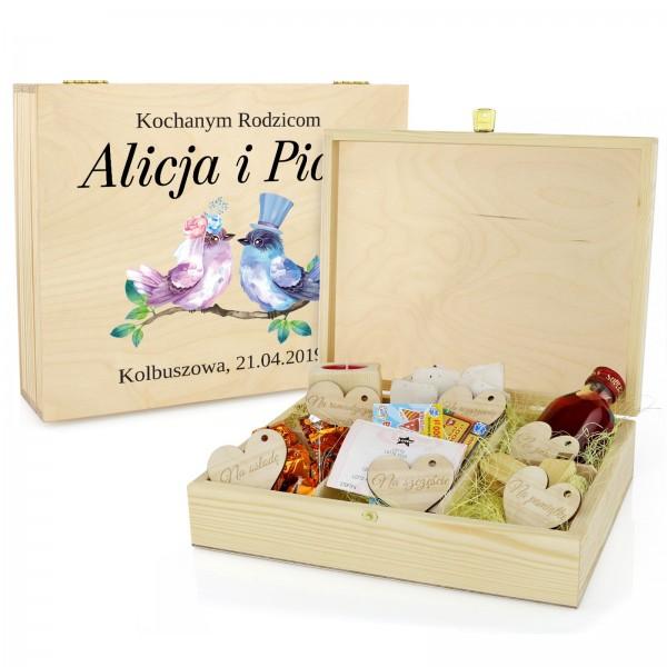 prezent dla rodziców szkatułka na upominki z dedykacją