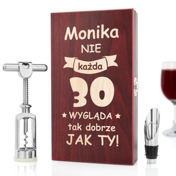 Modernistyczne Zestaw do wina z grawerem na prezent na urodziny - Dobry Wygląd EZ66