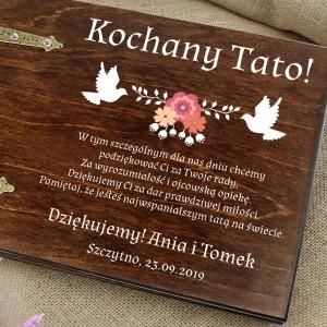 upominek dla taty album na zdjęcia personalizowany gołębie