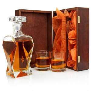 podziękowania dla świadka karafka z grawerem i szklankami w drewnianym pudełku