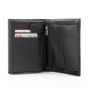 co dla promotora skórzany portfel