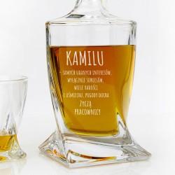 podziękowania dla szefa karafka do whisky z grawerem