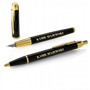 elegancki prezent dla szefa pióro i długopis parker z grawerem