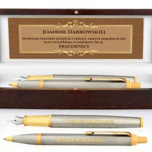 zestaw długopis i pióro w etui z dedykacją