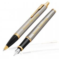 zestaw pióro i długopis z grawerem na podziękowanie dla szefowej classic style