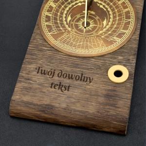 luksusowy zegar słoneczny z grawerem na wyjątkowy prezent
