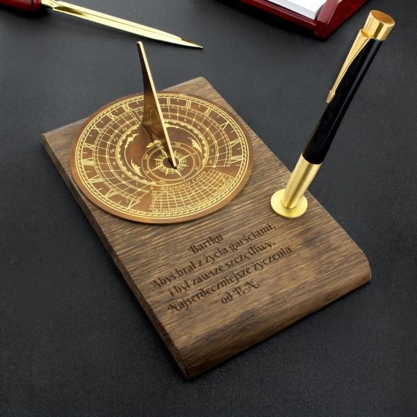zegar słoneczny z dedykacją na elegancki prezent