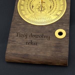 gabinetowy zegar słoneczny z dedykacją na luksusowy prezent