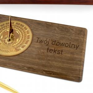 gabinetowy zegar słoneczny z grawerem na ekskluzywny prezent