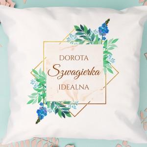 poduszka personalizowana na prezent dla szwagierki idealna