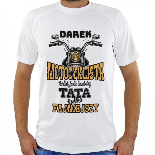 koszulka męska dla taty z imieniem motocyklista