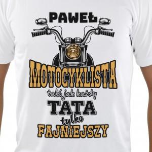 koszulka personalizowana motocyklista na prezent na dzień ojca