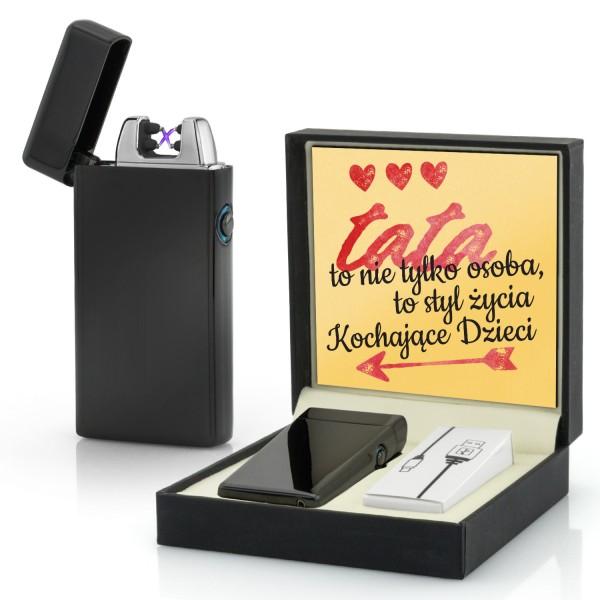 zapalniczka na prezent dla taty w pudełku z dedykacją