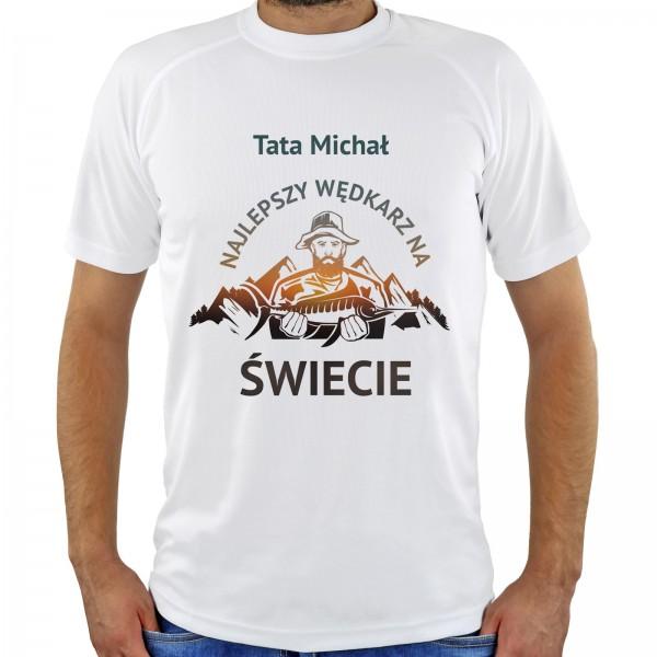 koszulka z nadrukiem na prezent dla taty najlepszy wędkarz