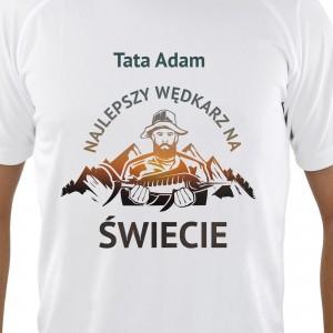 pomysł na prezent na dzień taty koszulka z imieniem najlepszy wędkarz
