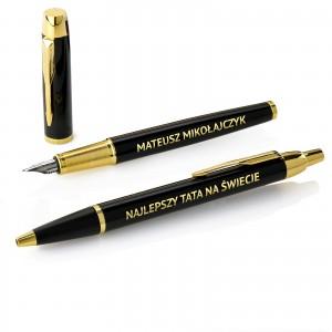długopis i pióro parker z grawerem