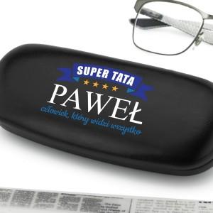 prezent na dzień taty personalizowane etui na okulary super tata