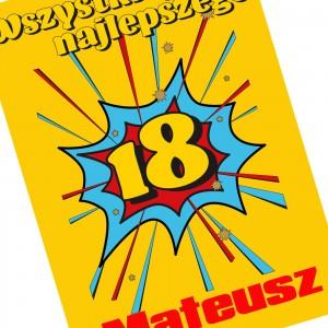 kartka na 18 z personalizacją