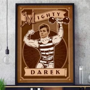 plakat na 18 urodziny dla niego siłacz
