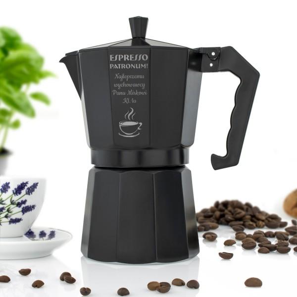 prezent na dzień nauczyciela kawiarka z grawerem espresso