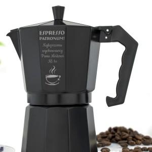 kawiarka z aluminium i grawerem na podziękowanie dla nauczyciela espresso