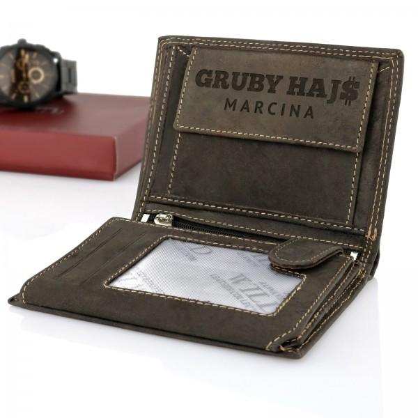 portfel skórzany męski always wild z grawerem na prezent na 18 dla niego gruby hajs