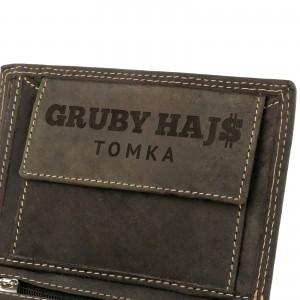 praktyczny prezent na 18 grawerowany portfel męski gruby hajs