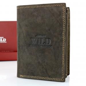 portfel męski always wild brown na prezent na 18 dla chłopaka