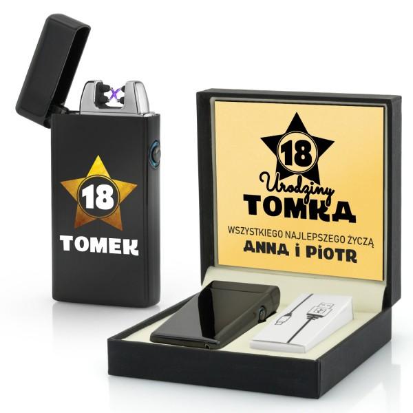 zapalniczka z nadrukiem na prezent na 18 urodziny dla kolegi gwiazdor