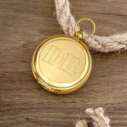 pomysł na prezent dla myśliwego mosiężny kompas z grawerem