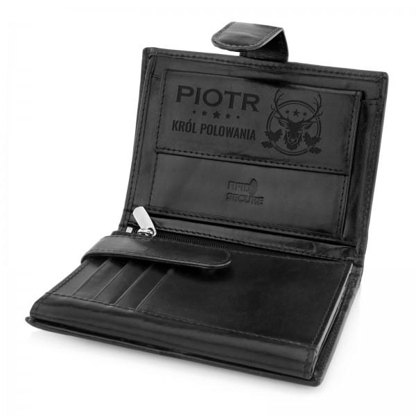 grawerowany portfel na prezent dla myśliwego