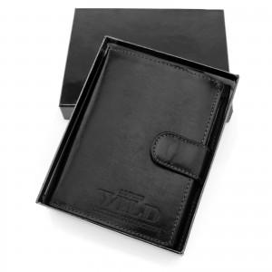 męski portfel czarny na prezent dla myśliwego na urodziny