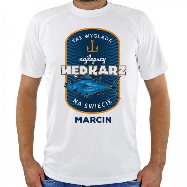 koszulka z nadrukiem na prezent dla wędkarza