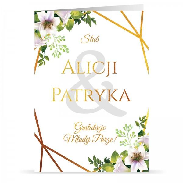 kartki ślubne z personalizacją gratulacje młodej parze