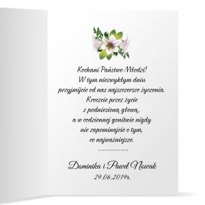 życzenia ślubne z personalizacją gratulacje młodej parze