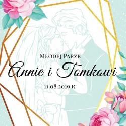 kartka z personalizacją na prezent na ślub młodej parze