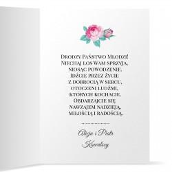 kartka z życzeniami na ślub z personalizacją młodej parze