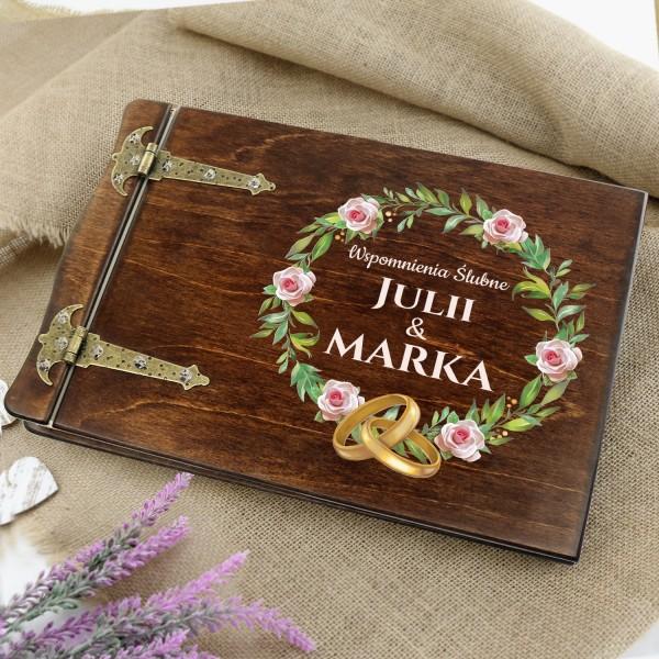 album na zdjęcia wklejane z dedykacją na prezent ślubny