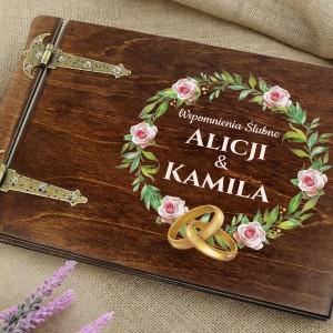 prezent na ślub album do wklejania zdjęć z imionami ślubne wspomnienia