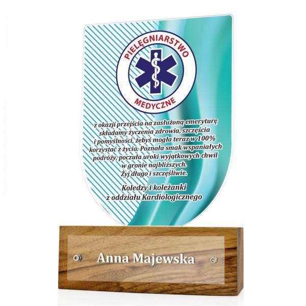 statuetka dla pielęgniarki z nadrukiem dedykacji na prezent na emeryturę gwiazda życia