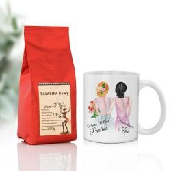 prezent ślubny dla świadkowej kubek z imieniem i kawa