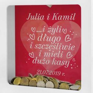 skarbonka dla pary prezent ślubny